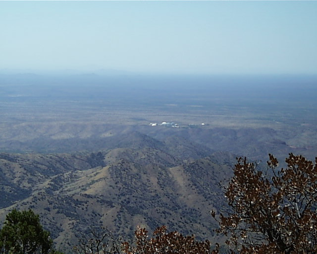 The view from the top of Rice Peak looking northwest towards the Biosphere