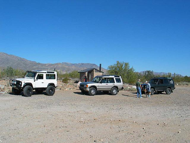 We take a break at the trailhead