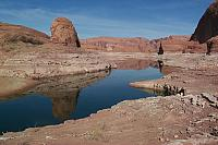 Wow. Lake Powell. (a 3 mile hike down to the lake from camp).