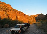 Heading out of Box Canyon