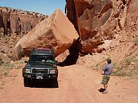 Moab - Recent rockfall on the back road to Dead Horse Point