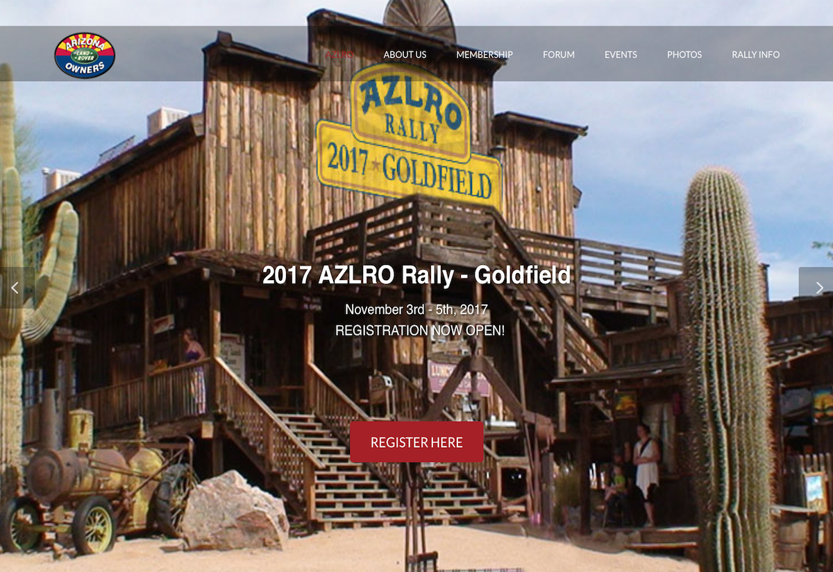 2017 Arizona Land Rover Rally - Goldfield